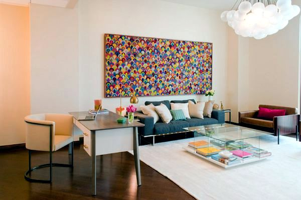 Use abstract art as decorative items for the modern home
