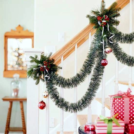 draped party garlands christmas decorations and ideas for home - Garland Christmas Decor