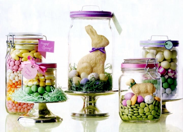 Crafts for easter jam jars can replace easter baskets interior easter will soon be creative and want to prepare a surprise for the children rather than placing sweets and small gifts inside an easter basket negle Images