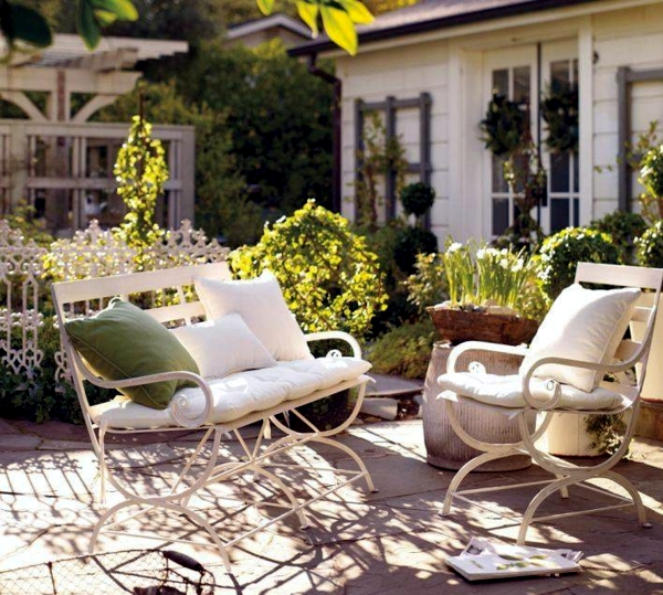 It offers modern furniture relaxing on summer days