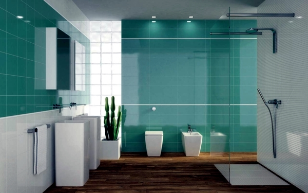 Modern bathroom tile ideas for bathroom colors -20 | Interior Design ...