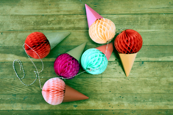 Sommerdeko Make Your Own Idea With Colorful Paper Ice