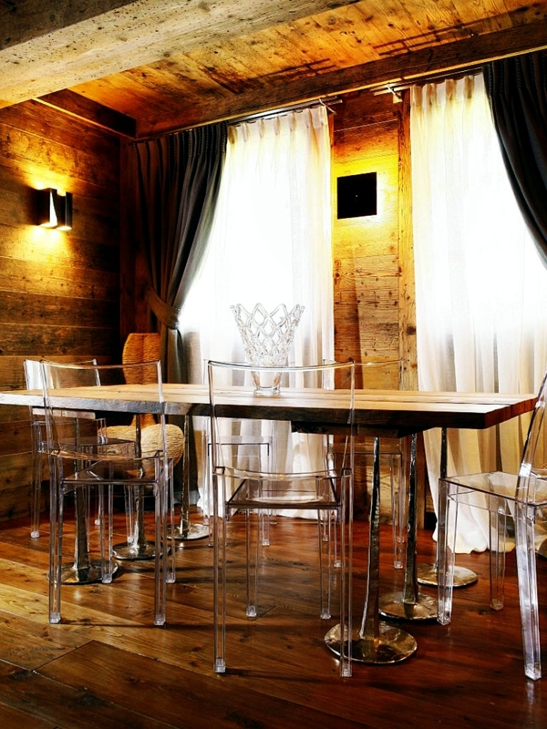 Development of ideas in a rustic style - combining furniture and lighting