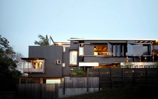 A Modern Residential Building Makes Effective Use Of A