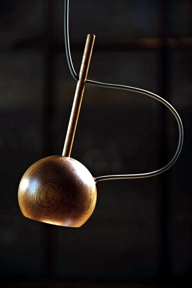 "Design pendant lamp ""O"" oak Sverre Uhnger"
