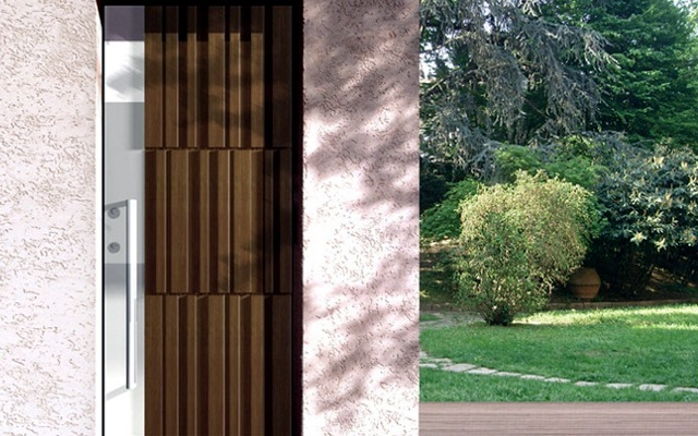 The modern part of the materials and styles of the door at a glance