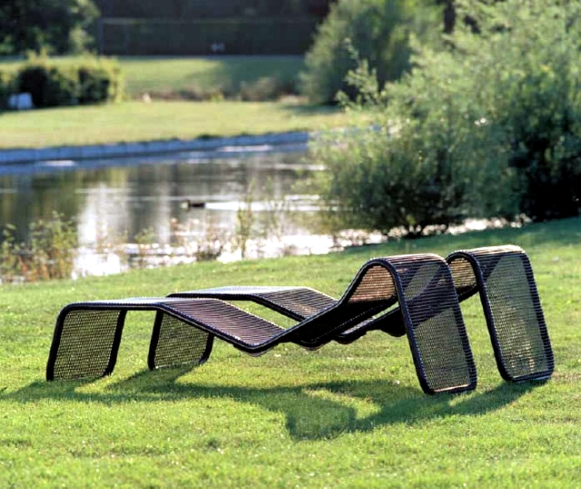 Elegant shaped lounge furniture outdoor oasis for wellness