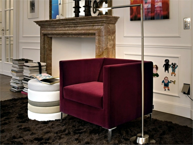 Sofa upholstered in Alcantara ® and other areas of application of the substance