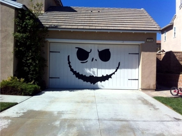 Roller garage doors - custom design ideas with wall stickers 3d