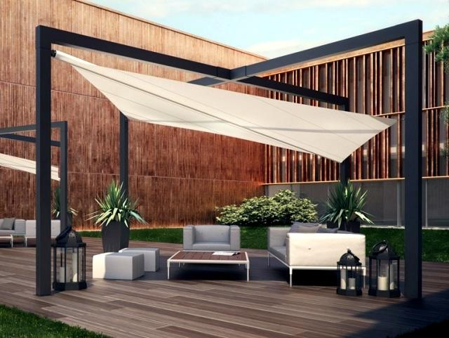 Terrace canopy mistral pratic in contemporary design for Terrace modern design