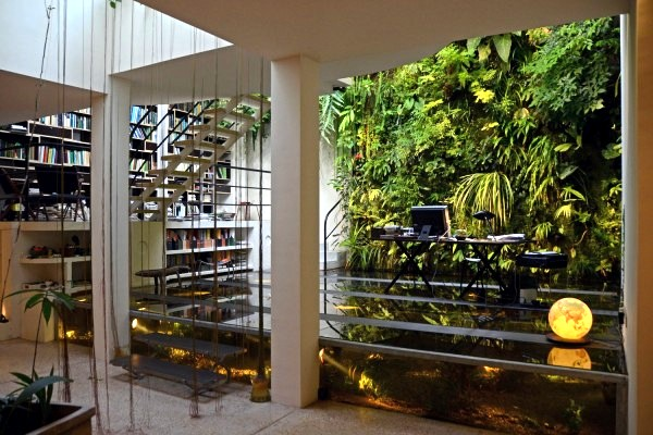 The Following Images Show The Front Desk Of The Botanist And Father Of The Vertical  Garden, Patrick Blanc, World Renowned. One Of His Most Famous Creations ...