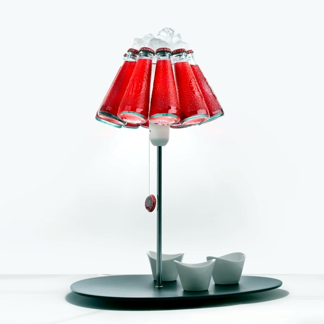 Designer Table Lamp Ingo Maurer Campari Bar Produces Light Reflections.  Table Lamps Pictures Gallery