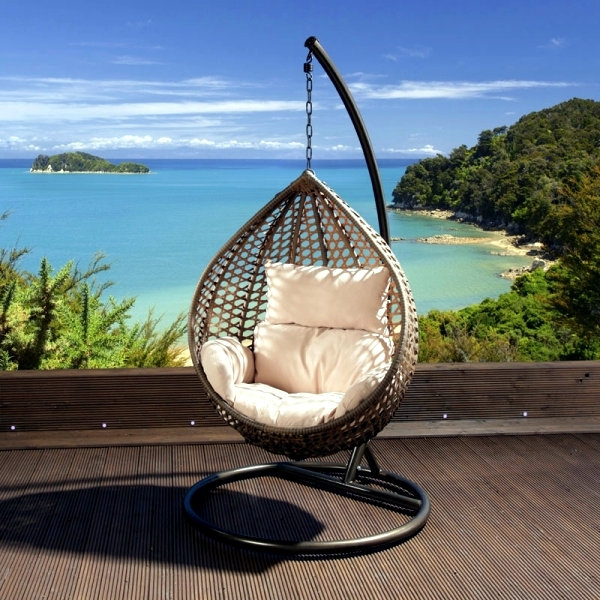Hanging Chair With Frame   A Real Piece Of Furniture For The Installation.  Garden. Hammock Chair ...