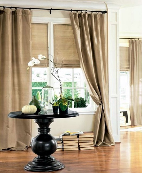 Matching curtains and drapes adorn the windows 30 decorating ideas