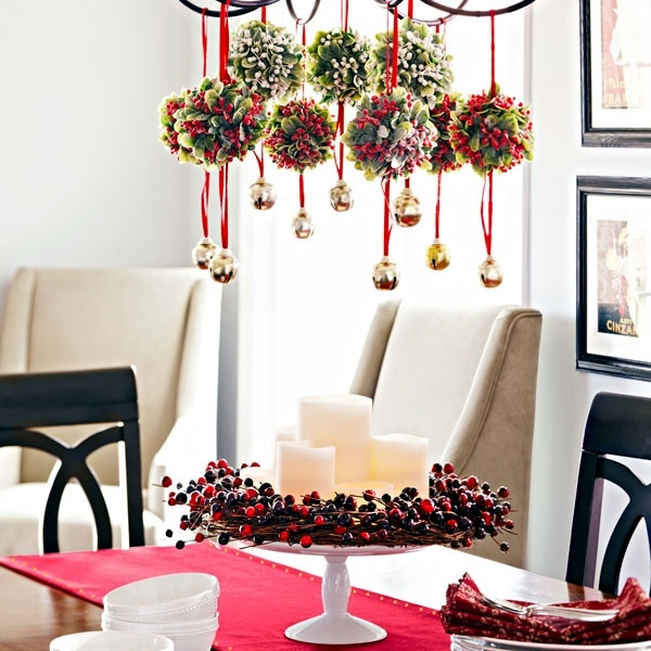 Christmas decorating ideas red berries interior for Interior xmas decorations