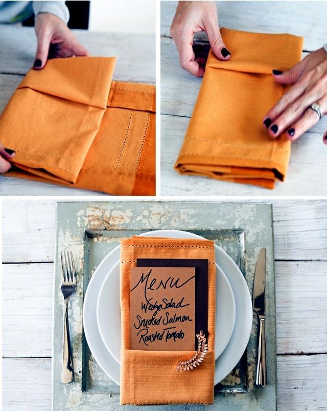 Napkin Folding - 75 summer ideas for table decoration