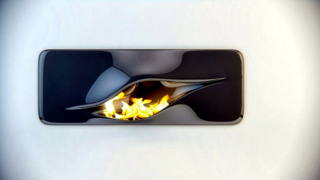 This futuristic design fireplace Mvtikka of Nüvist
