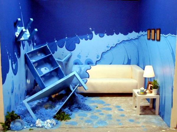 Creative Wall Decoration With Color   18 Ideas For Accent Colors