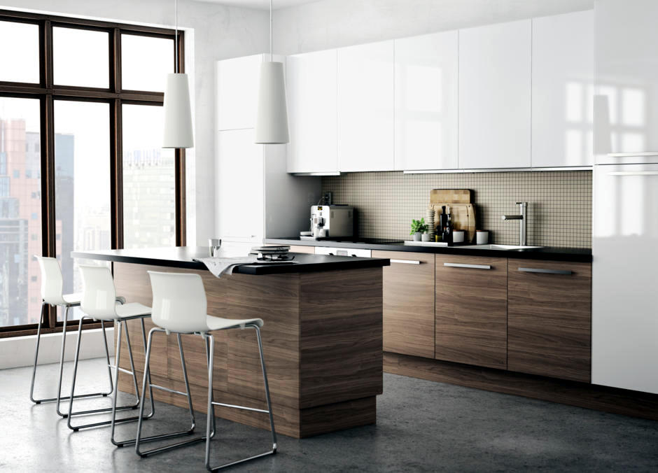Kitchen wood color with white cabinets : Interior Design Ideas - Ofdesign