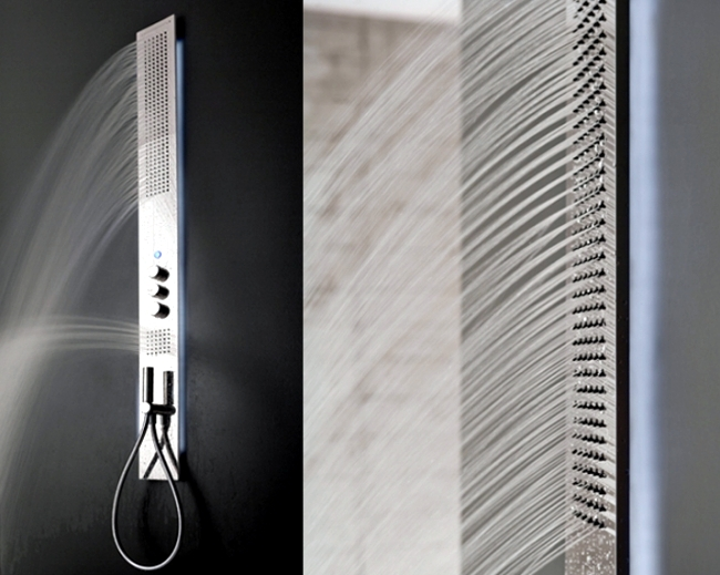 Shower column being Obliqua Zazzeri offers a range of
