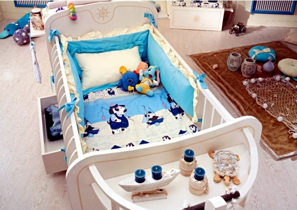 Elegant design of the nursery - child care for your luxury