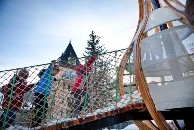 Wooden toys mimic nature - bird nests Vail Three