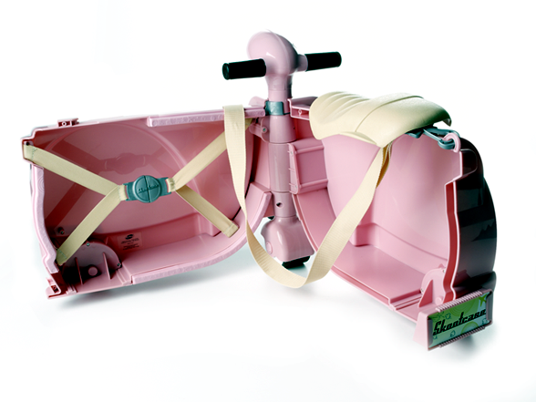 A sweet child car designed as an Italian scooter