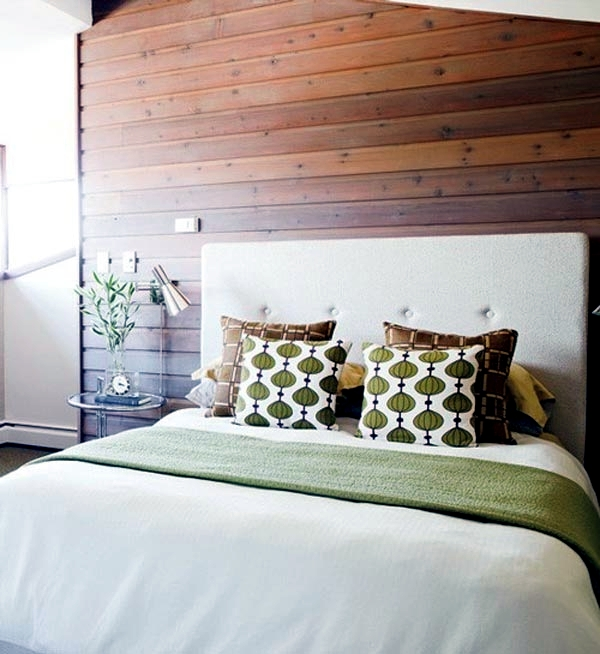 Wood Accent Wall Bedroom Ideas: Contemporary Wall Cladding Wood Creates A Warm