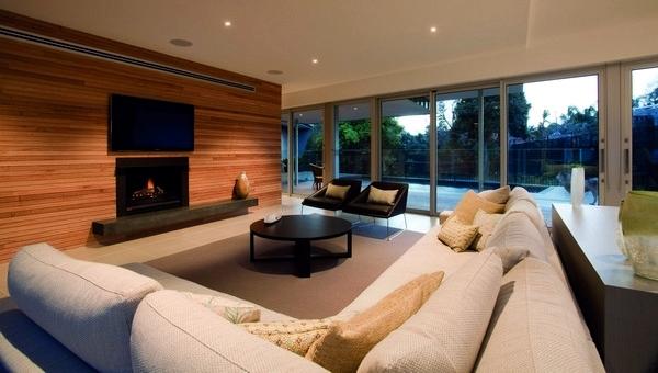 Contemporary Wall Cladding Wood Creates A Warm Interior