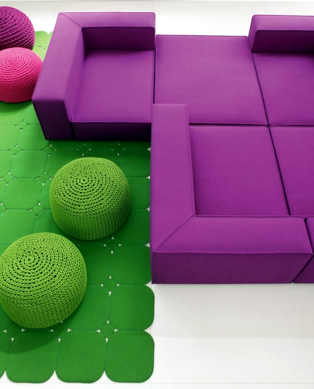The Color of the Year 2015 - furniture design in cool tones radiating Orchid