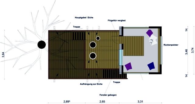Treehouse Experience timeless space between two oaks Djuren