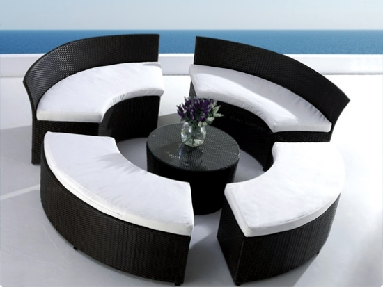 living room furniture for garden and terrace - round shapes fashion