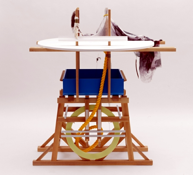 Maritime-look - furniture design with rope knot