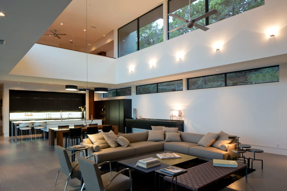 Indirect lighting in the living room interior design for 6 in the living room