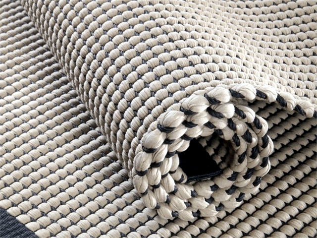Carpets knotted cotton paper handmade and son Duetto Korvela