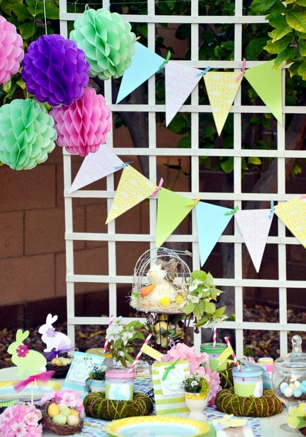 21 great decorating ideas for easter for a colorful spring for Festival decoration ideas