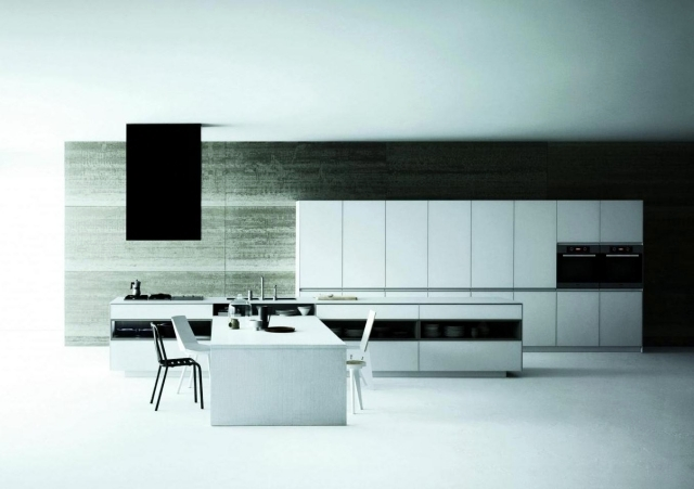 Matt Modern White Kitchen Meson De Vetronica