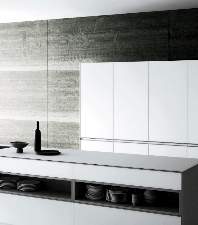 Matt modern white kitchen - Meson de Vetronica