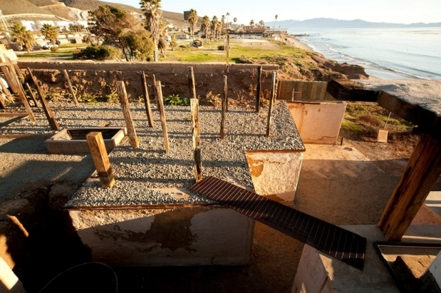 You built beach house by the sea and mostly made of recycled materials