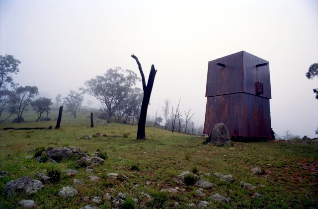 Camping camping cabin, which releases the view to the horizon