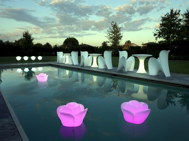 Enjoy the garden with decorative garden lights at night