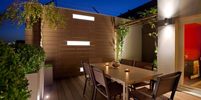 Fiber Cement Planters design - green shutters balconies