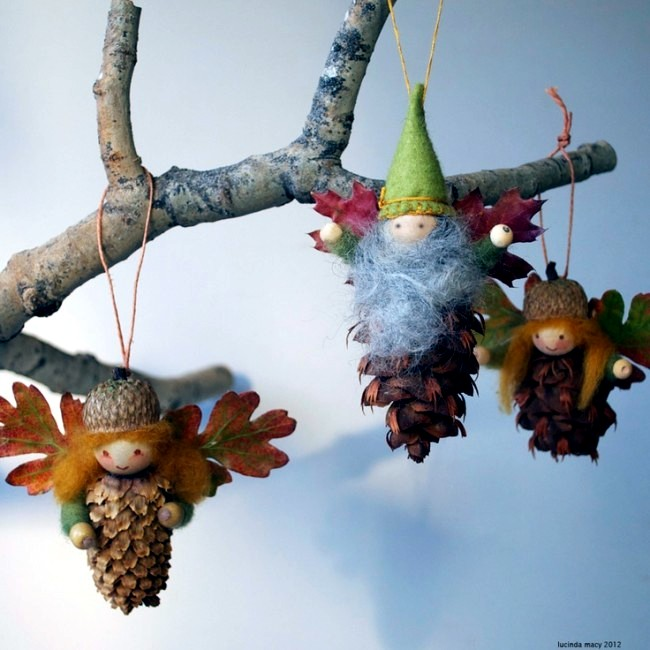 Christmas Decorations & Christmas tree decorations made from natural materials u2013 20 ideas ...