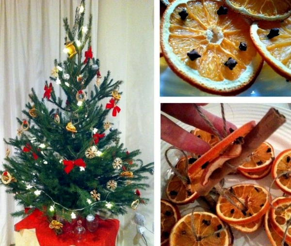 Making Natural Christmas Decorations: Christmas Tree Decorations Made From Natural Materials