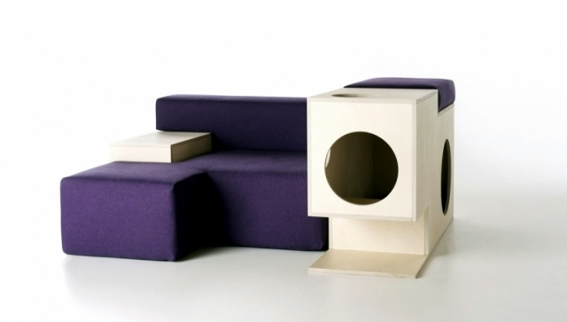 Modern design chair - comfort for you and playground for pets