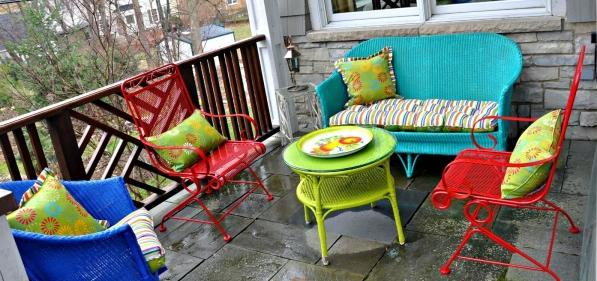 Build and decorate furniture itself - ideas for outdoor use