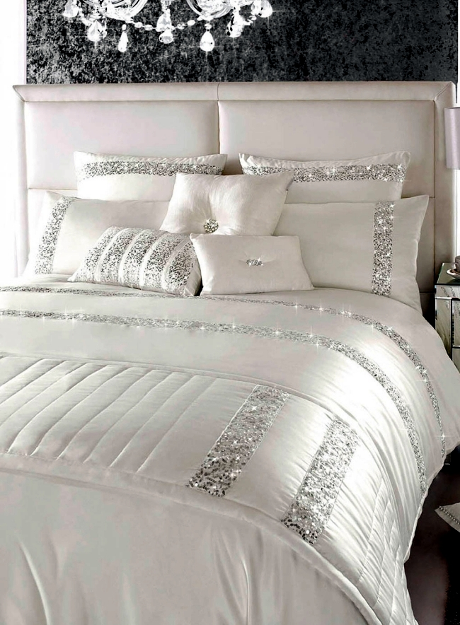 Luxury Bedding Kylie Minogue Satin Sequins And Elegant Style 2388 on modern bedroom colors