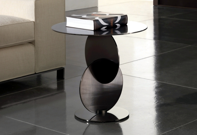 The compact side table in the living room - low profile