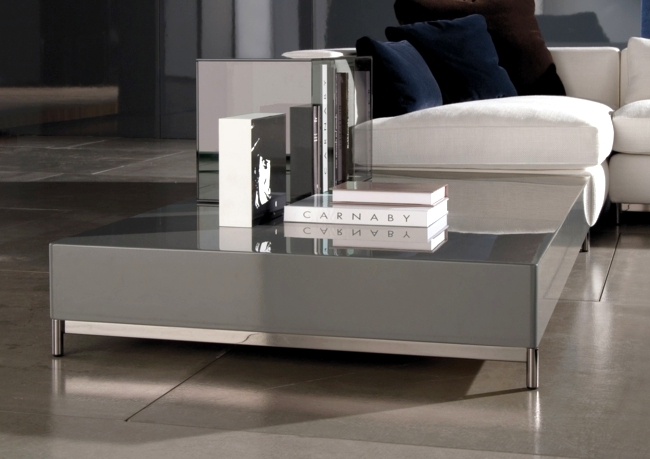 The Compact Side Table In Living Room Low Profile