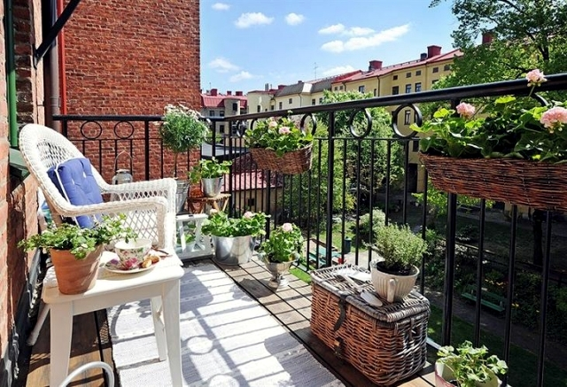 Beautify the balcony with plants - 24 ideas for the design of the balcony